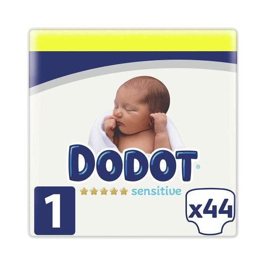 dodot sensitive pañal talla 1 (2-5 kg) 44 unidades