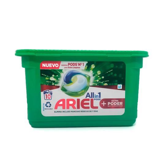 ariel detergente all in one ultra oxy effect 10 capsulas