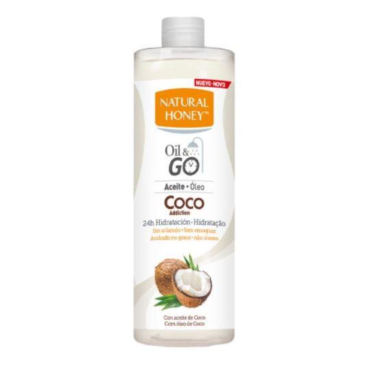 natural honey coco addiction oil & go! aceite hidratante en la ducha 300ml