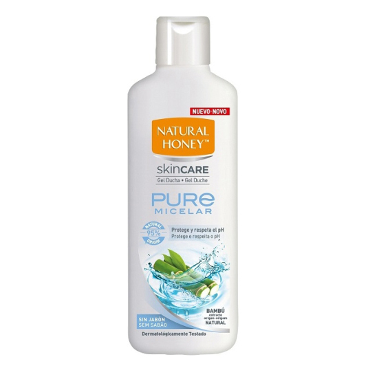 natural honey skin care gel de ducha pure micellar 750ml