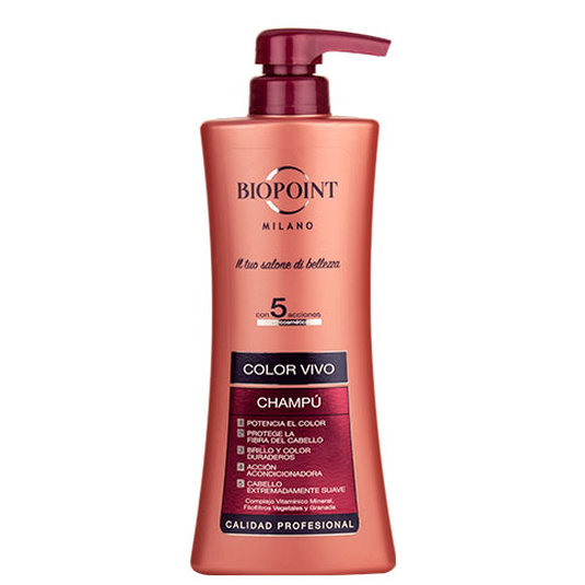 biopoint milano champú color vivo 400ml