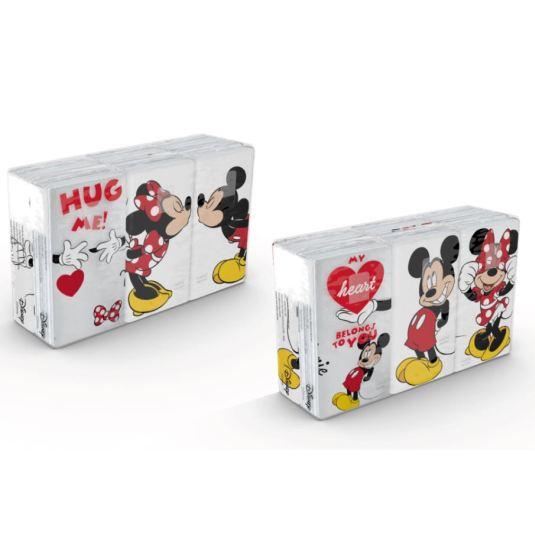 pañuelos de papel minnie y mickey 6x6 4 capas