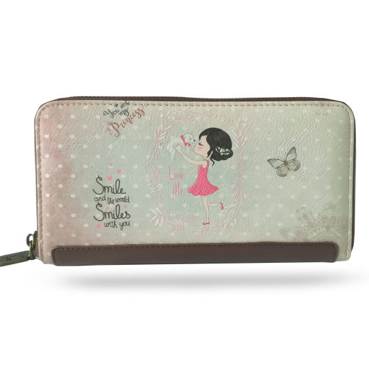 cartera billetero mujer sweet candy girl with puppy