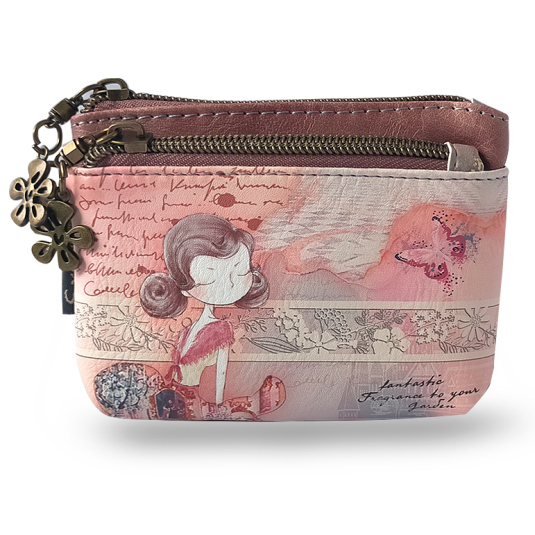 monedero cremallera sweet candy girl butterfly
