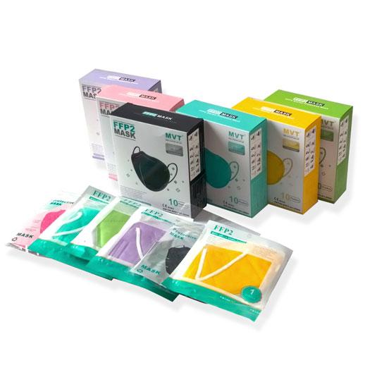 mtv mascarillas ffp2 colores adulto cajas 10 unidades