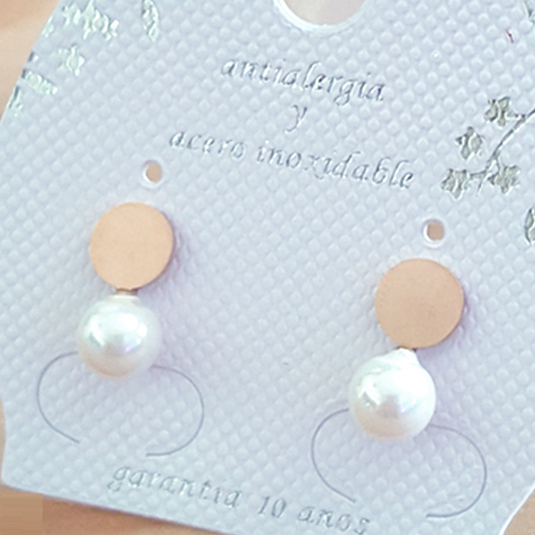 pendiente perla 09