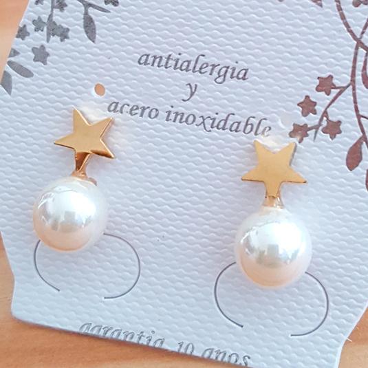 pendiente perla 10