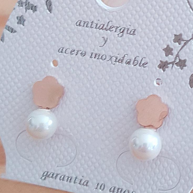 pendiente perla 17