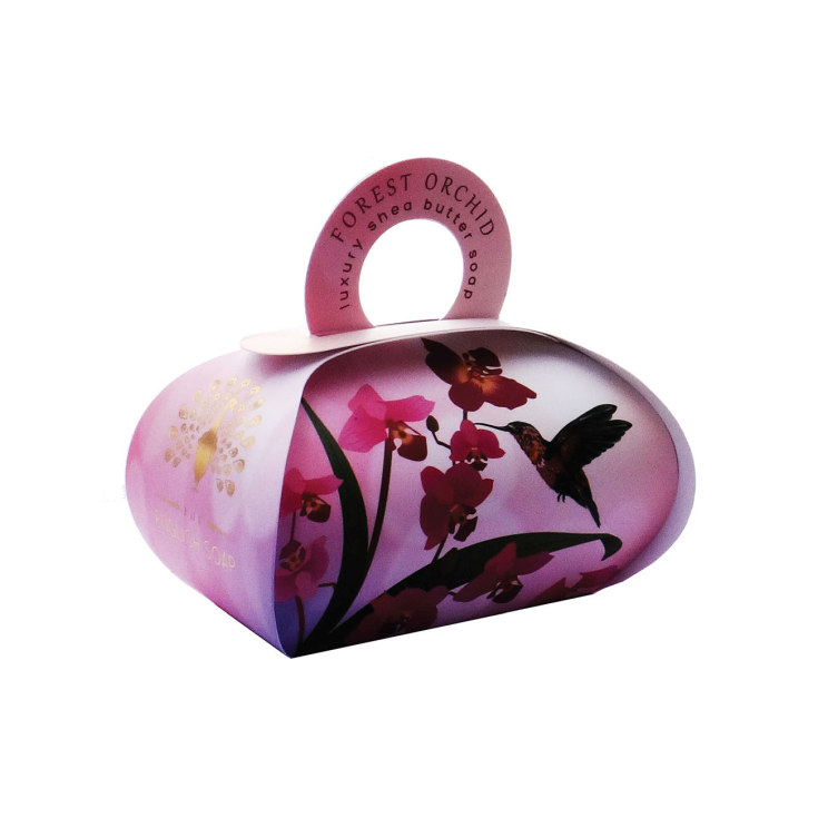 the english soap jabón forest orchid packaging regalo