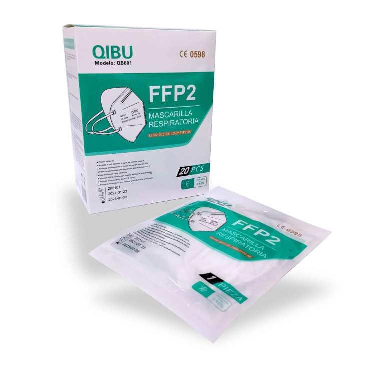 mascarillas fffp2 nr blancas adulto 20 unidades