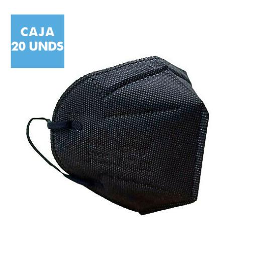 mascarillas ffp2 nr color negro talla adulto caja 20 unidades