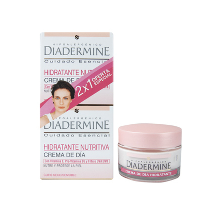 diadermine crema dia hidratante piel sensible duplo 2x50ml