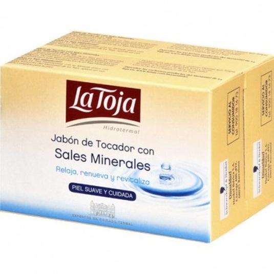 la toja pastilla de jabon de tocador con sales minerales duplo 2x125g
