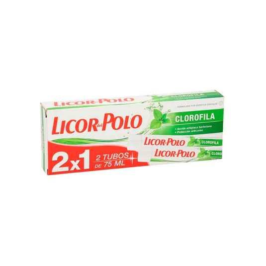 licor del polo pasta de dientes clorofila 75ml duplo