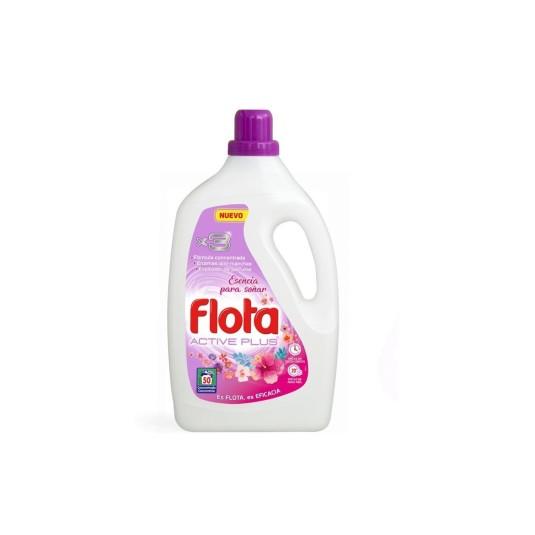 flota active plus detergente liquido lavadora esencia para soñar 50 dosis