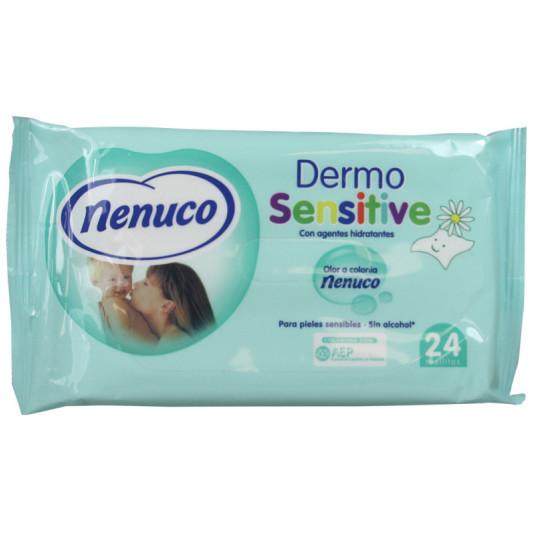 nenuco toallitas dermo sensitive 24 unidades