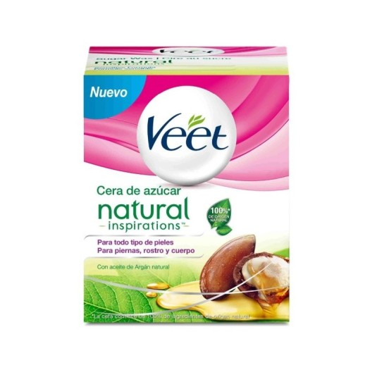veet cera depilatoria natural tibia corporal y facial 250ml