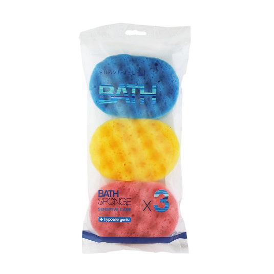 suavipiel esponja de baño suave oval 3uds