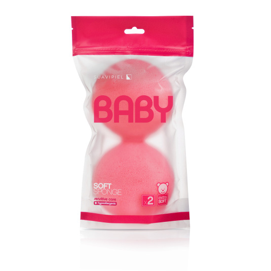 suavipiel esponja de baño baby duplo color surtidos 1ud