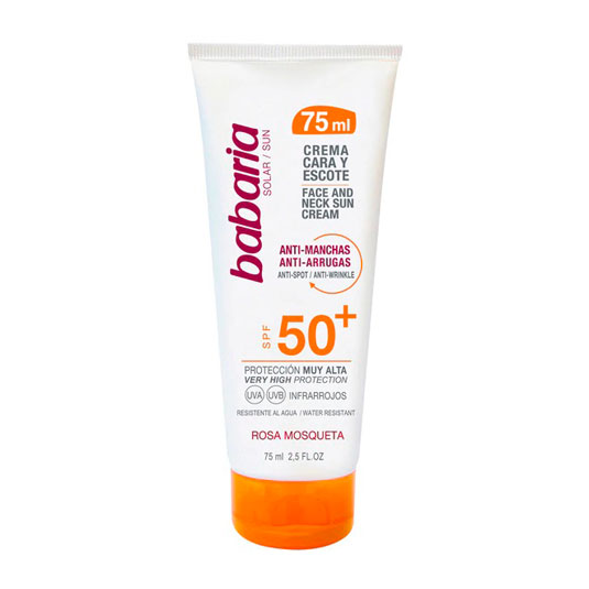 babaria solar facial antimanchas spf50+ 75ml