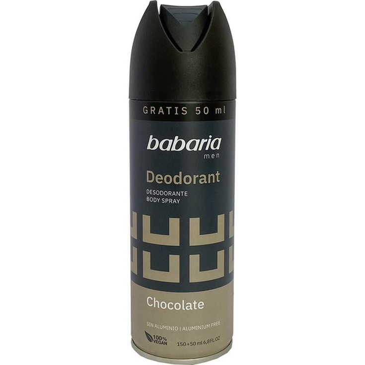 babaria chocolate desodorante masculino spray 200ml
