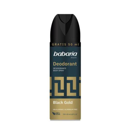 babaria desodorante masculino black gold spary 200ml