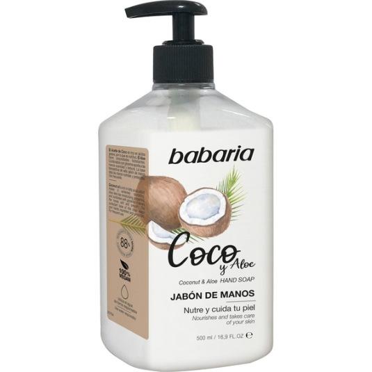 babaria jabon liquido de manos coco dosificador 500ml