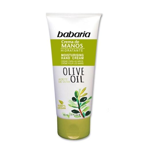 babaria aceite de oliva crema de manos hidratación intensa 75ml