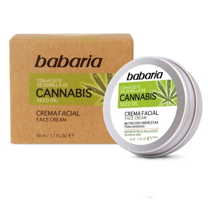 babaria aceite de semilla de cannabis crema facial nutritiva 50ml