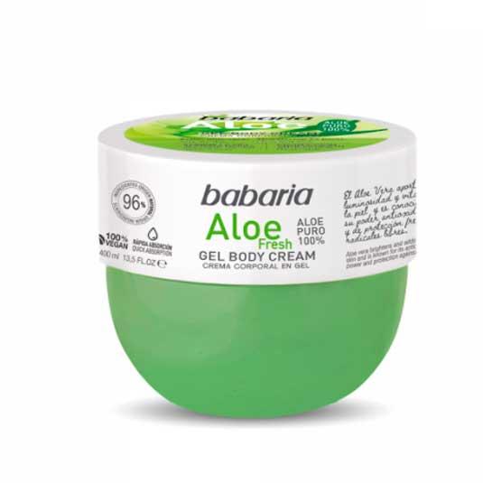 babaria aloe fresh crema corporal aloe vera puro tarro 400ml