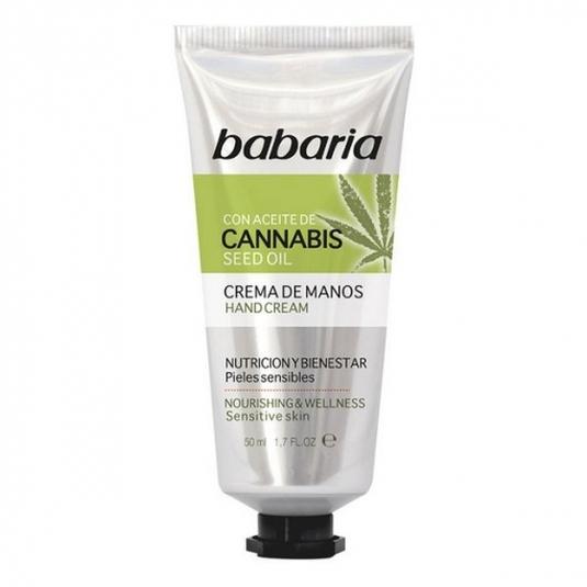 babaria aceite de semilla de cannabis crema de manos 50ml