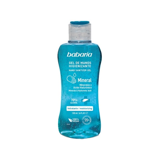 babaria gel de manos higienizante mineral hidratante 70% alcohol