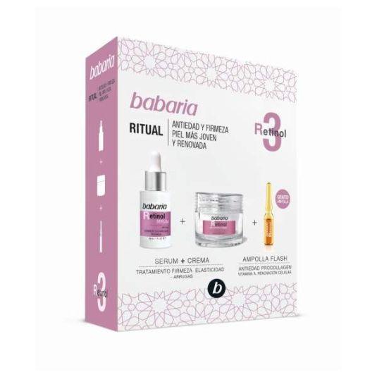 babaria retinol crema 50ml set 3 piezas