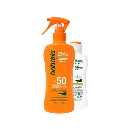 babaria sun leche protectora solar spf50 200ml + aftersun 100ml