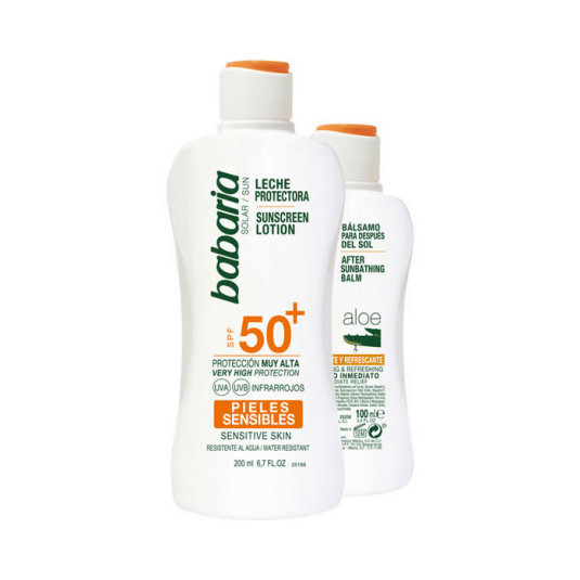 babaria solar pack leche protectora spf50+ + aftersun 100ml
