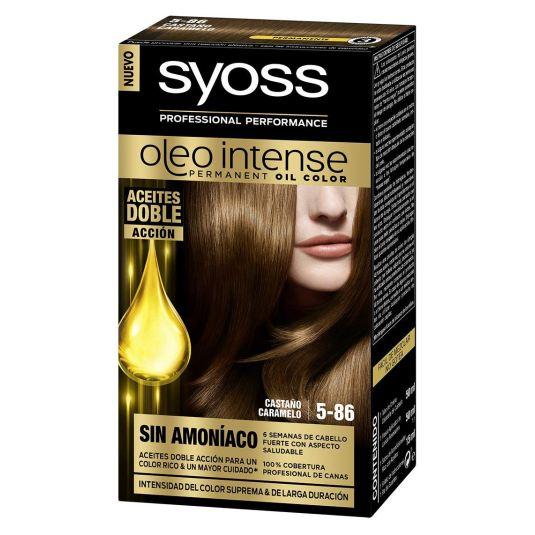 syoss oleo intense tinte permanente sin amoníac 5-86 castaño caramelo