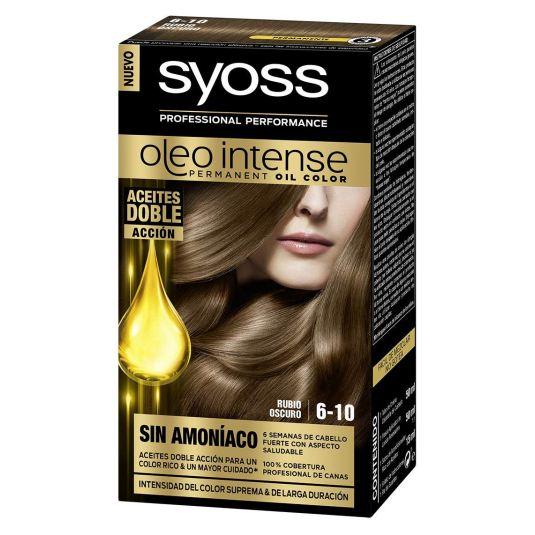 syoss oleo intense tinte permanente sin amoníaco 6-10 rubio oscuro