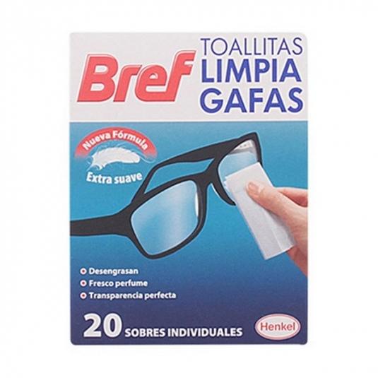 bref toallitas monodosis limpia gafas suaves 20 unidades