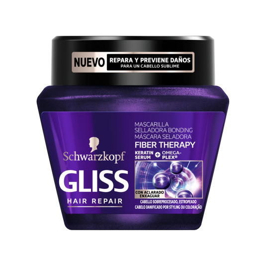 gliss hair repair fiber therapy mascarilla capilar 300ml