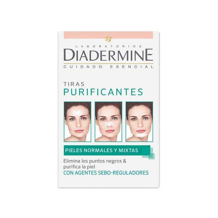 diadermine tiras purificantes piel normal-mixta-grasa 6uds