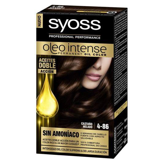 syoss oleo intense tinte permanente sin amoníaco 4-86 castaño helado