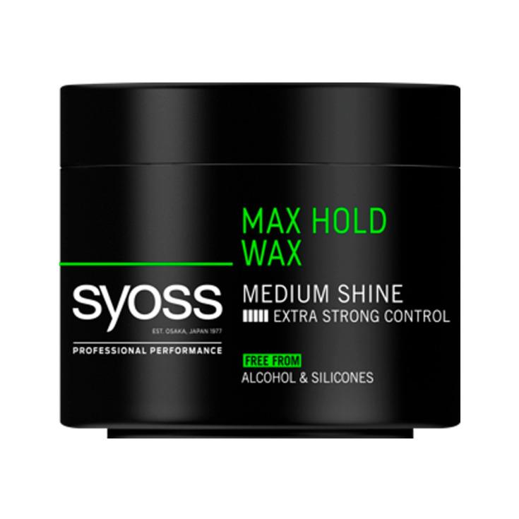syoss men max hold wax cera fijacion ultrafuerte 150ml