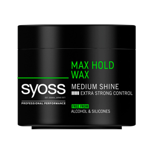 syoss men max hold wax cera fijacion ultrafuerte 150ml