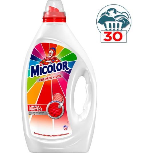micolor detergente liquido gel colores vivos 30 dosis