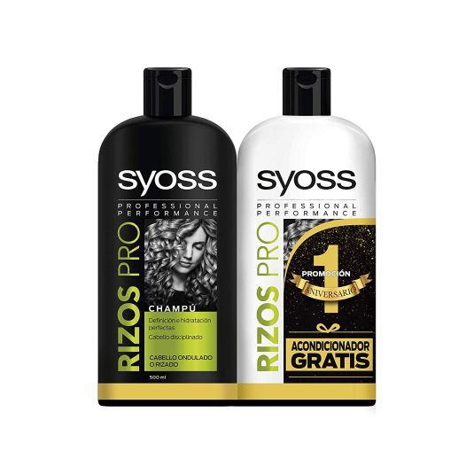 syoss rizos pro champú 500ml+acondicionador 500ml