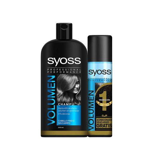 syoss volumen champu 500ml+acondicionador 500ml