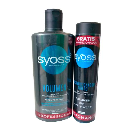 syos volumen champu 440ml + syos volumen acondicionador 200ml gratis