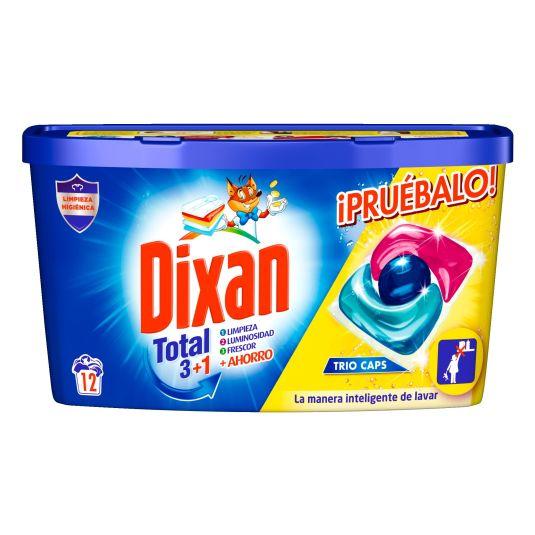 dixan original detergente capsulas trio-caps 12 unidades
