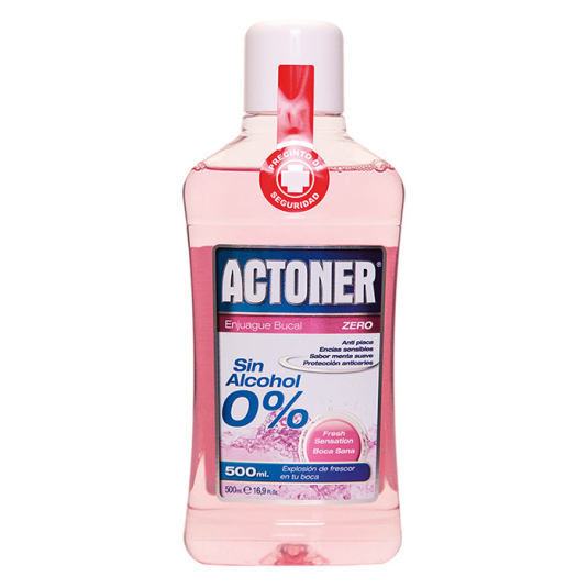 actoner enjuague bucal zero sin alcohol 0% 500ml