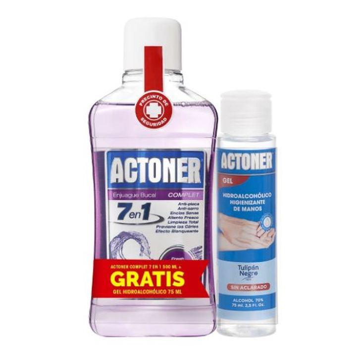 actoner enjuague bucal complet 7en1 500ml + regalo gel hidroalcoholico 75ml